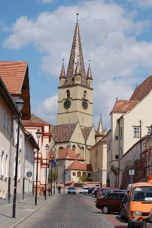 Sibiu, Romania: Sibui_tower with spire