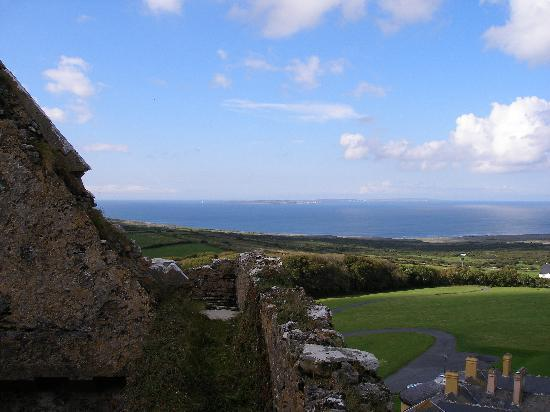 Ballinalacken Castle Country House: Looking down on the hotel from atop Ballinalacken Castle