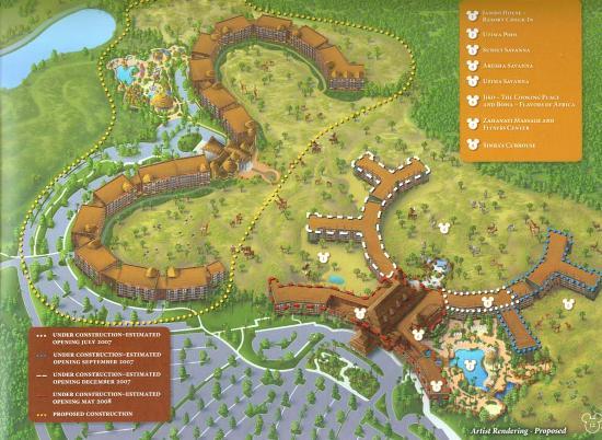 Disneyu0027s Animal Kingdom Lodge: Building Schedule