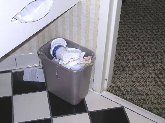 Hampton Inn Lexington/Columbia: wastbasket never emptied