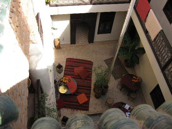 Riad Boussa: view from the rooftop veranda