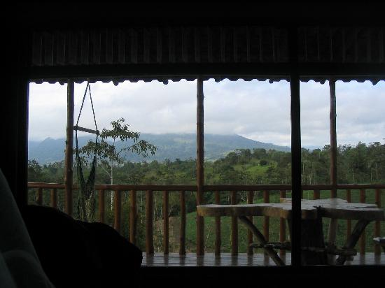 Leaves and Lizards Arenal Volcano Cabin Retreat: view from the cabin to the volcano