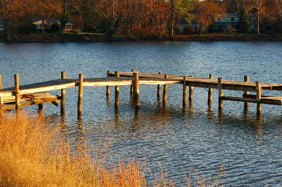The Woodlawn Historic B&B: The dock at Woodlawn Farm in fall
