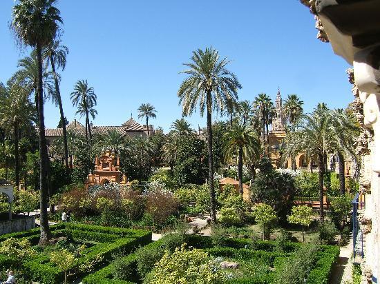 Sevilla, Spanien: Alcazar gardens