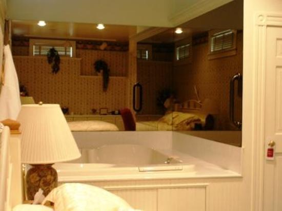 Chambery Inn: The jacuzzi in the Firespa room