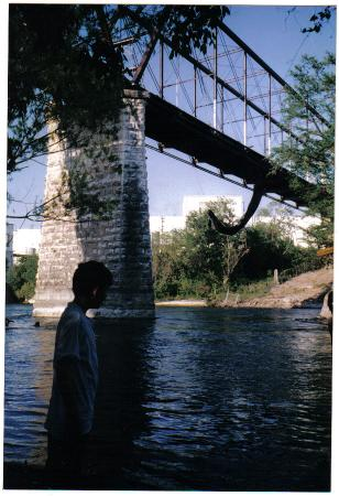 Faust Street Bridge: Underneath during restoration