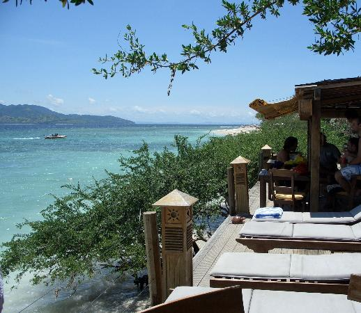 Gili Trawangan, Indonesia: The Beach house view gili t 2006