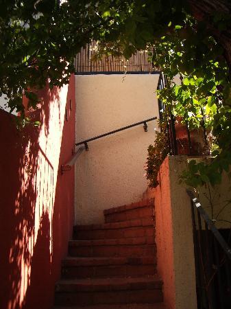 Casa Tuscany Inn: Jasmine Covered Walk Up
