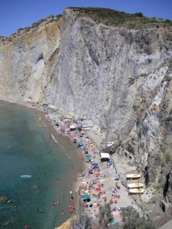 Ponza Island, Italien: main beach