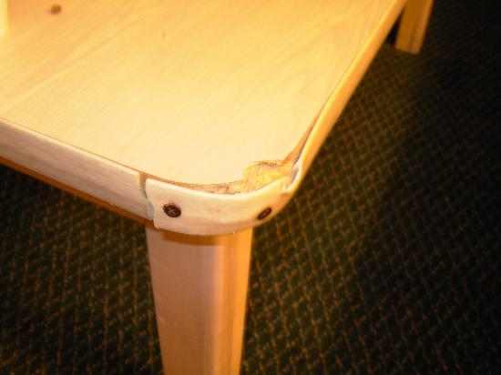 Super 8 St. Augustine Beach: repaired table in room