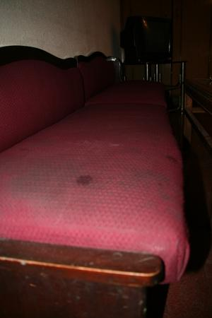 York Hotel: Stained Couch