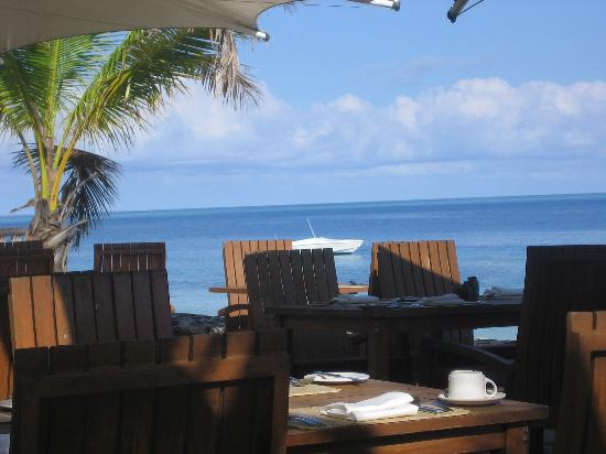 Castaway Island Fiji: View from the dining terrace