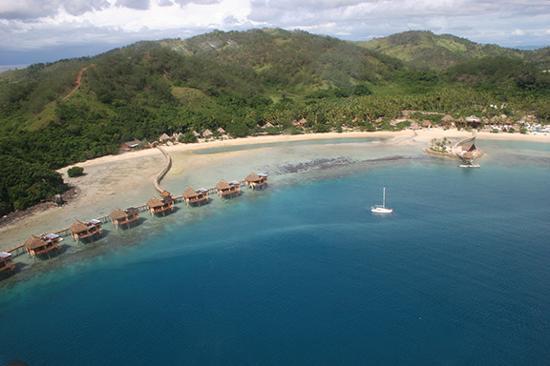 Likuliku Lagoon Resort : Waving goodbye from the seaplane.