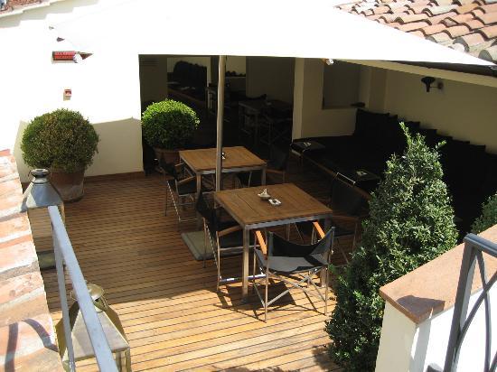 JK Place Firenze : The roof terrace.