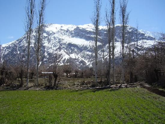Chitral, Pakistán: View of Boni Zom(Dono) from a field