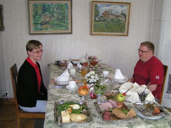 Tertti Manor: Our breakfast