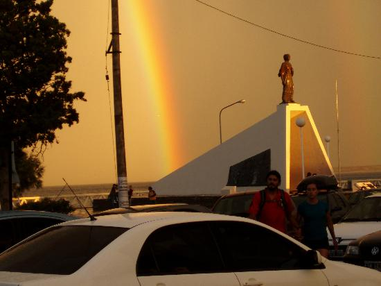 Puerto Madryn, Argentina: Double Rainbow at the Welsh monument
