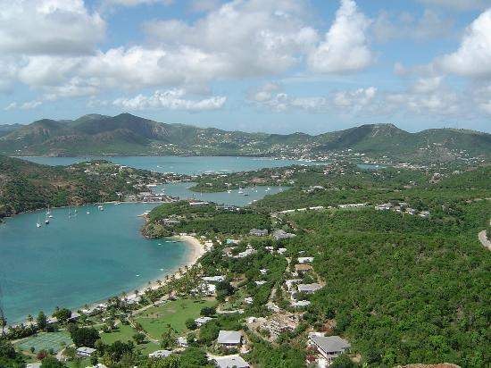 Antigua und Barbuda: View over harbour