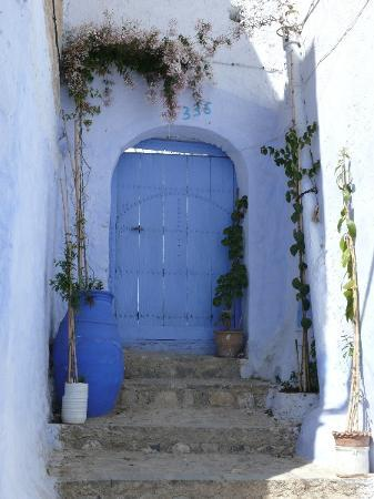 Chefchaouen, Maroc : Another doorway