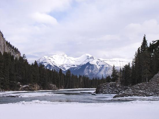 A view from the Bow River Banff