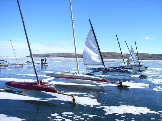 Banff, Kanada: Ice Yachts
