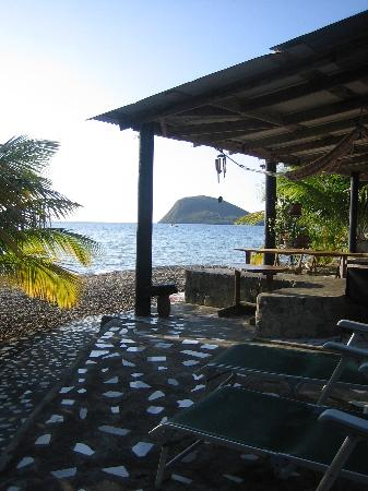 Sisters Sea Lodge: The Beach Bar and the Cabrits