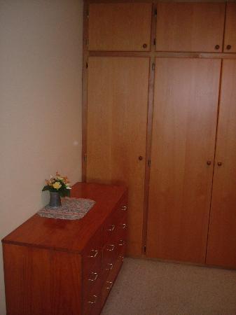 """Mt Hutt Accommodation Ltd. """"Bed Post"""": Wardrobe & Cupboard in Master Bedroom"""