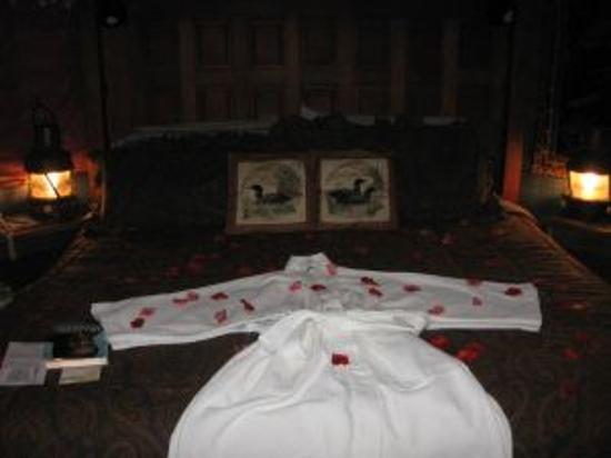 Sandlake Country Inn : The Bed at night