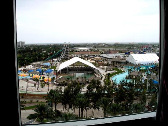 Moody Gardens Hotel Spa & Convention Center: View of Schlitterbahn from 8th floor at Moody Gardens Hotel