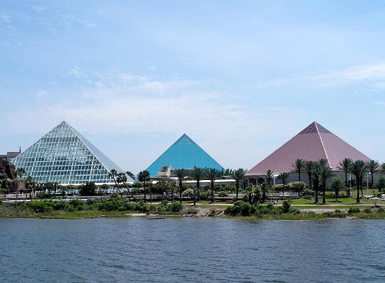 Moody Gardens Hotel Spa U0026 Convention Center: Pyramids At Moody Gardens As  Seen From The