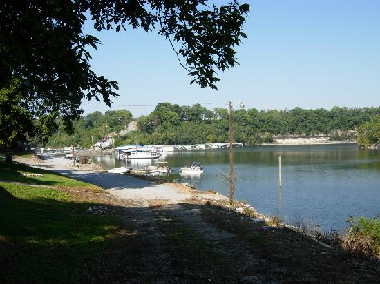 Gwinn Island Resort and Marina: view from cabin area