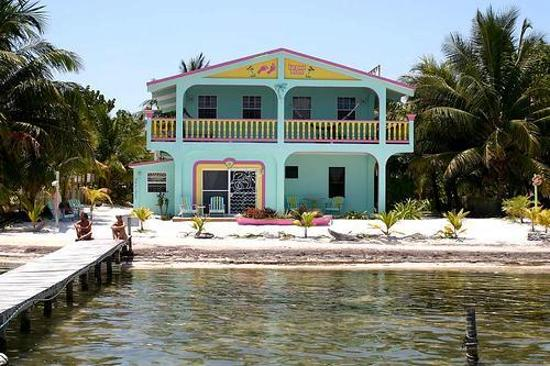 Front View Of Barefoot Beach Belize Hotel