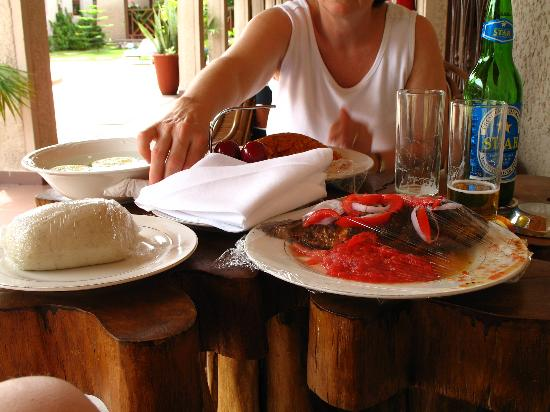 Mahogany Lodge: Tilapia and banku