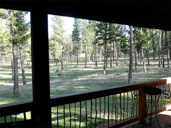 The Resort at Paws Up: front porch view