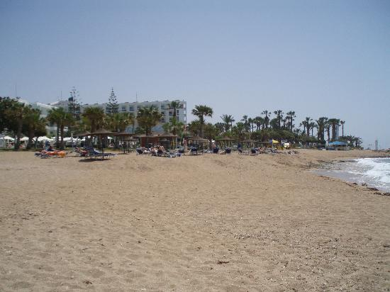 Louis Ledra Beach: beach outside hotel