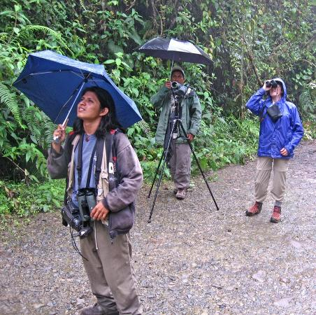 Tandayapa Bird Lodge: Wonderful guides for justthe two of us.
