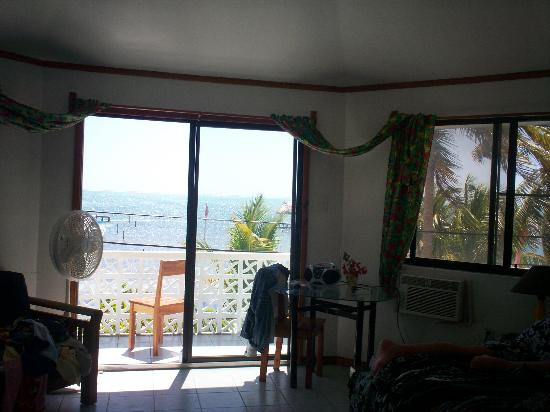 Costa Maya Beach Cabanas: view from inside the room