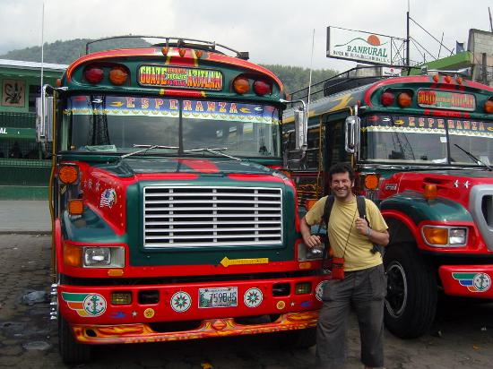 Lush Atitlan/Hotel Aaculaax : The chicken buses