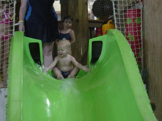 Wilderness Resort: My son on the slide!