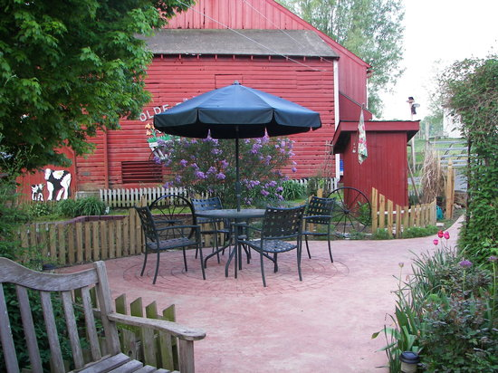 Olde Fogie Farm: patio