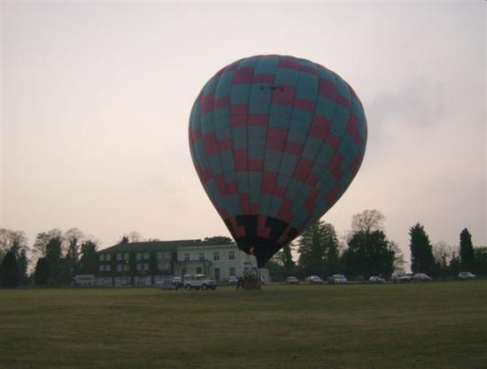 The Chase Hotel: hot air balloon in front of Chase Hotel