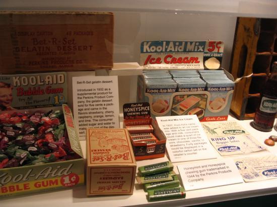 Hastings Museum : kool-aid gum, icecream, bottles