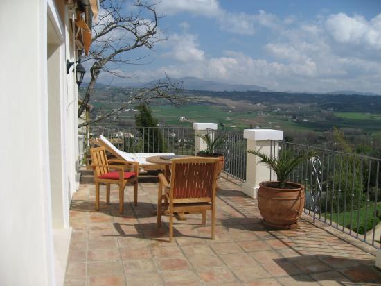 Hotel La Fuente De La Higuera: Views from our terrace