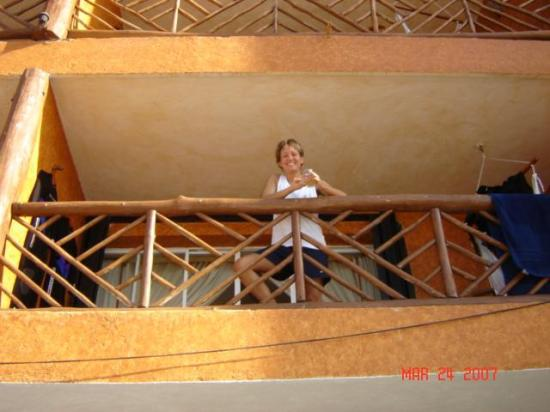 Vista del Mar Boutique Hotel: We enjoyed people watching from the balcony