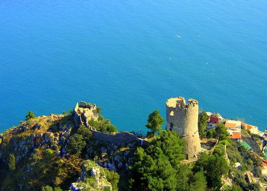 Amalfi Coast, Italy: Watchtower ruins above Amalfi