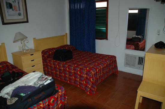 Hotel Pepita: Two Double Beds take up a lot of floorspace