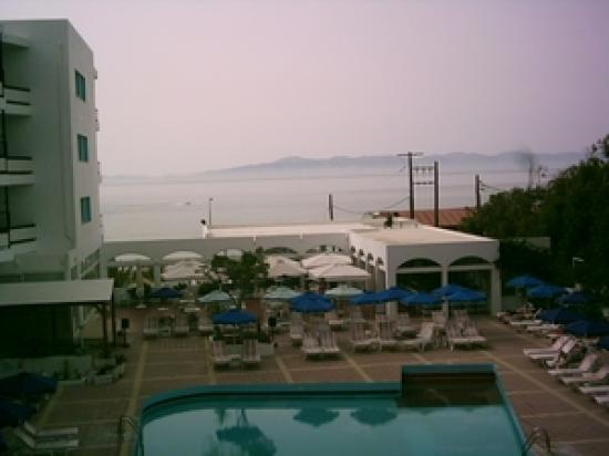 Belair Beach Hotel: view from the balcony looking at Turkey