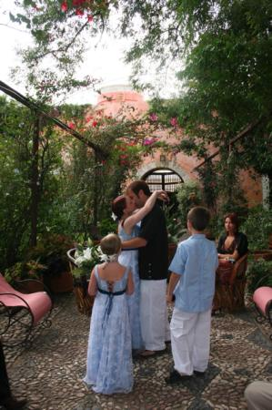 Hacienda Las Trancas: Ceremony in the Central Courtyard