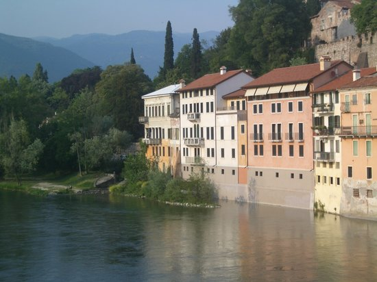 Bassano del Grappa from the bridge