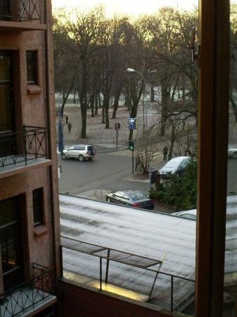 Cochs Pension: View of the Slottsparken (in winter) from our room window